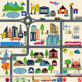 Modern city map elements for generating your own infographics, m Stock Photography