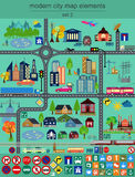 Modern city map elements for generating your own infographics, m Stock Image