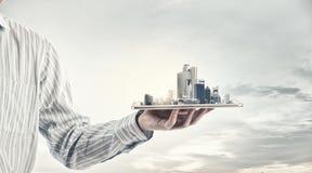 Modern city model Stock Image
