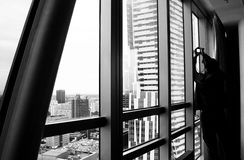 Modern city. Modernist architecture, glass, glass facade, large windows, skyscrapers, tall buildings, city, office, architecture, modernity, Modern architecture royalty free stock photography