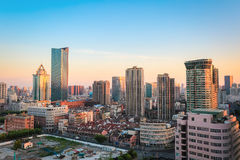Modern city in morning Royalty Free Stock Photos