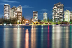 Modern city at night Royalty Free Stock Images