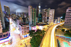 Modern city at night Stock Photography