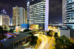 Modern city at night Royalty Free Stock Photography