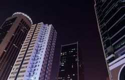 Modern city at night Stock Images