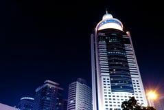 Modern city at night Stock Image