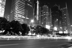 Modern city at night Royalty Free Stock Photos