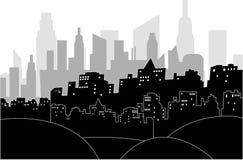Modern city by night Stock Photography