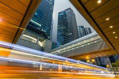Modern city night Stock Images