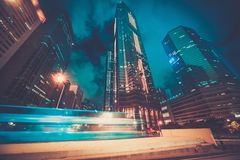 Modern city at night Stock Image