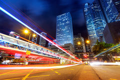 Modern city at night royalty free stock image