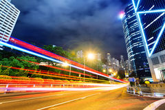 Modern city at night Stock Photo