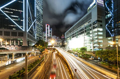 Modern city at night, Hong Kong Royalty Free Stock Photography