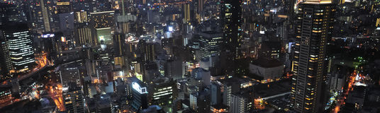 The modern city of the night, Osaka,Japan royalty free stock photography
