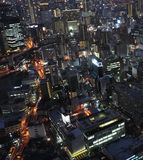 The modern city of the night, Osaka,Japan Stock Images