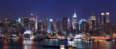 Modern City night scene. Stock Images