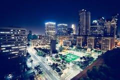 Modern city night scene Royalty Free Stock Photo