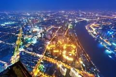 Modern city at night Stock Photos