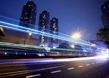 Modern city at night Royalty Free Stock Photo