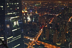 Modern city night view of Shanghai Royalty Free Stock Image
