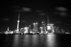 Modern city night view of Shanghai Stock Image