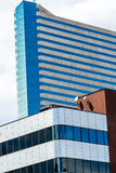 Modern city office buildings  in denver colorado Stock Photos