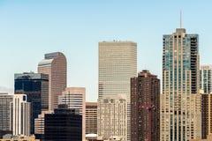 Modern city office buildings  in denver colorado Royalty Free Stock Photo