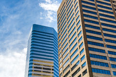 Modern city office buildings  in denver colorado Stock Image