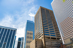 Modern city office buildings  in denver colorado. Downtown urban skyscraper architecture cityscape Stock Image