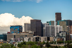 Modern city office buildings  in denver colorado Stock Photo