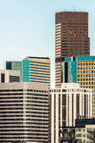 Modern city office buildings in denver colorado. Downtown urban skyscraper architecture cityscape Royalty Free Stock Image