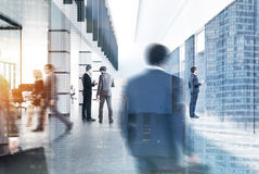 Modern city office lobby, people Royalty Free Stock Photography