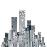 Modern city panorama. Royalty Free Stock Photos