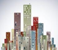 Modern city panorama. Stock Photos