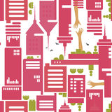 Modern city pattern Royalty Free Stock Images