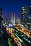 Modern city, Sathon Road, Bangkok, Thailand. Royalty Free Stock Image