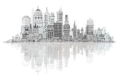 Modern city, set. Sketch collection Stock Images