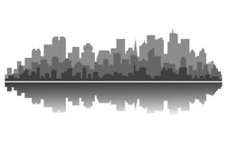 Modern city silhouette Stock Photography