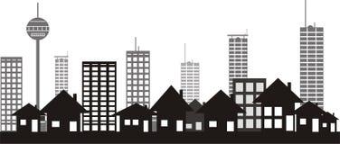 Modern city silhouette Royalty Free Stock Photo