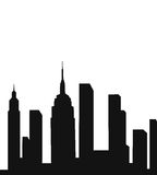 Modern City Silhouette. Vector silhouette illustration of a modern city. easy to change color Stock Photography