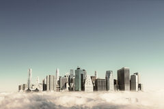 Modern city in the sky Royalty Free Stock Photos