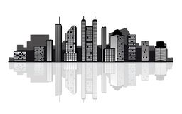 Modern city skyline Stock Photography