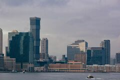 Modern city skyline Royalty Free Stock Photo