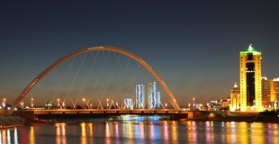 Modern city skyline Astana Kazakhstan Stock Image