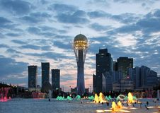 Modern city skyline Astana Kazakhstan Stock Photos
