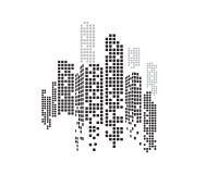 Modern City skyline . city silhouette. stock illustration