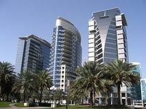 Modern city skyline in Dubai in UAE. Modern city skyline in Dubai in UAE royalty free stock photos
