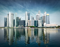 Modern city skyline Stock Image