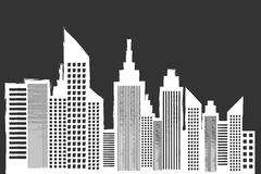 Modern City Skyline With Skyscrapers Royalty Free Stock Images