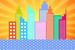 Modern City Skyline Skyscrapers Stock Image